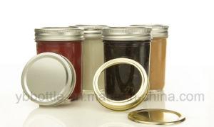 4oz/120ml 8oz/250ml, 16oz/520ml Tapered Glass Bottle Eco Mason Jar Honey/Jam Jar Glass Bottle Ith Gold/Silver/White/Black Metal Lids pictures & photos