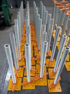 Safe Hollow Adjustable Scaffold Base Jack for Construction pictures & photos