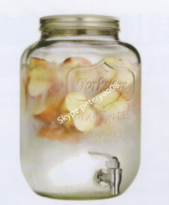 8L Glass Mason Jar Dispenser with Metal Lid pictures & photos