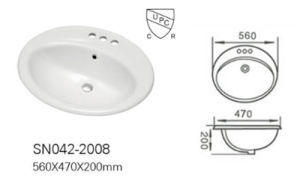 Cupc/Ce Qualification Bathroom Countertop Basin (A-2008) pictures & photos