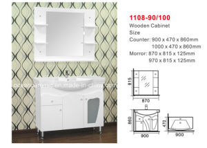 Bathroom Cabinet, (No. 1108) Assembly Cabinet, Mirror, Counter Basin pictures & photos