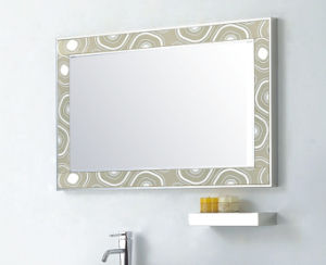 White Sliver Stainless Steel New Fashion Embossment Design Bathroom Mirrored Cabinet (YB-816) pictures & photos