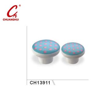 Pink Point Style Ceramic Knob Handles with Flower Pattern (CH13911) pictures & photos