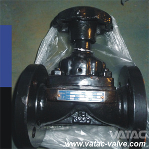 Cast Iron Body Rubber Lining Weir Type Diaphragm Valve pictures & photos