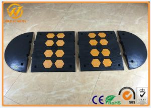 500*600*50mm Heavy Duty Traffic Road Rubber Speed Hump Yellow and Black pictures & photos