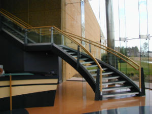 Tempered Glass Stair Handrail with AS/NZS2208: 1996, BS6206, En12150 Certificate pictures & photos