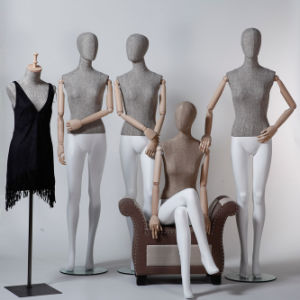 Latest Fabric Wrapped Female Mannequin with Wooden Arm pictures & photos