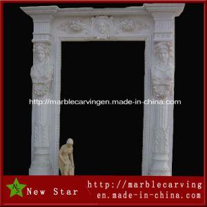 White Granite Stone Exterior Door Surround, Entrance Door Surround pictures & photos