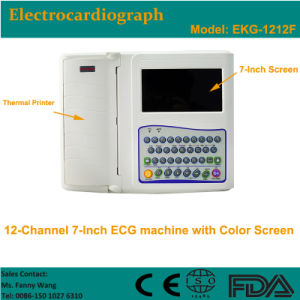 CE Approved Digital 12-Channel Color Electrocardiograph ECG (EKG-1212F) -Fanny pictures & photos
