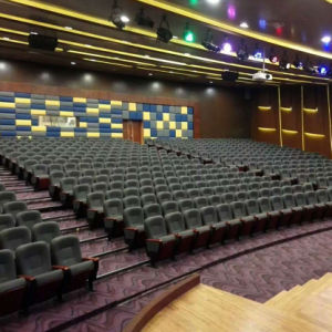 Auditorium Seat, Conference Hall Chairs, Plastic Auditorium Seat Auditorium Seating, Push Back Auditorium Chair (R-6140) pictures & photos