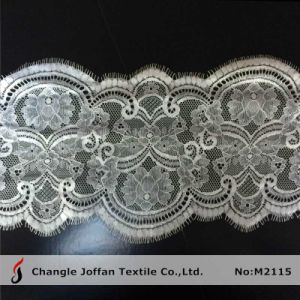 White Tulle Scalloped Lace for Dress Material (M2115) pictures & photos