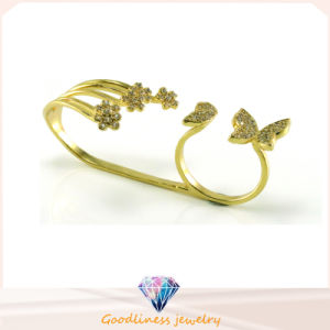 2017 Wholesale Fashion Butterful and Flowers Gold Plated 925 Sterling Silver Jewelry Ring (R10408) pictures & photos