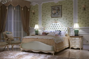 Classical Wooden Bedroom Furnuture Ypl-A8001b-3 Bed
