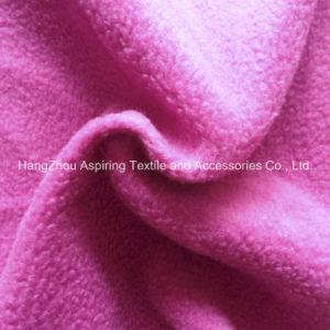 100% Polyester Knitting Polar Fleece Fabric 75D/96f pictures & photos
