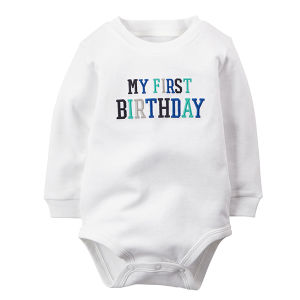 0-12monthes White Infant Romper Cotton Boy Baby Clothes pictures & photos