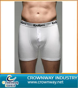 Men′s Cotton Boxers Short Brief with Custom Logo (CW-MU-17) pictures & photos