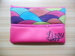 Love Beauty Fuchsia Long Purse Kit Neoprene Cosmetic Bag pictures & photos