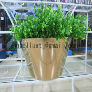 Meeting Room Conference Hall Flower Pot Polish Stainless Steel Garden Pot pictures & photos