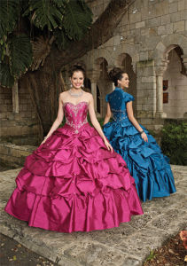 Beaded Ruffle Tulle Prom Dress Quinceanera Gowns Ball Dresses, Customized pictures & photos