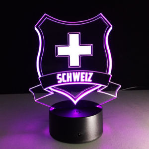 Customized Logo 3D LED Lamps Creative Visual Night Light