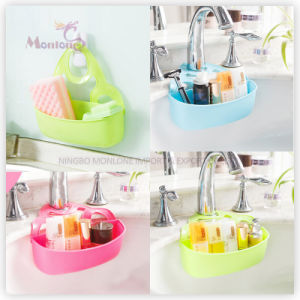 Bathroom Shower Kitchen Plastic Storage Sink Side Faucet Caddy pictures & photos