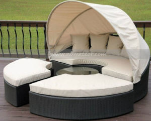 Mtc-175 Outdoor Rattan Garden Daybed Wicker Leisure Sofa Bed pictures & photos
