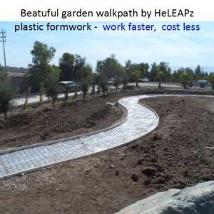 Garden Work Faster, Cost Less, Lightweight, Reusable Sidewalk Plastic Formwork pictures & photos