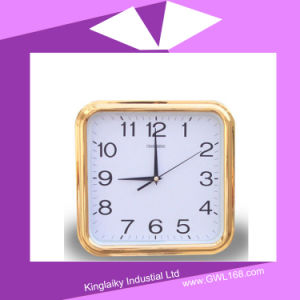 Square Plastic Clock with Electronic Calendar PC-004 pictures & photos