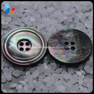 Custom Black Luxury Mother of Pearl Shell Buttons for High End Garments pictures & photos