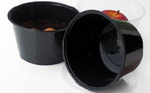 Black Color Plastic Disposable Food Packaging Container pictures & photos