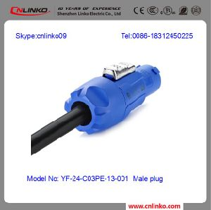 Glod Plated IP65 Powercon/Waterproof Power Connector pictures & photos