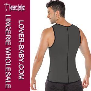 Men Gym Tops Sports Wear Waist Trainer Vest (L42660-2) pictures & photos