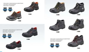 PU Artificial Leather Cheap Groundwork Safety Shoes pictures & photos