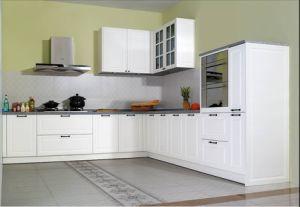 White PVC L-Shape Kitchen Cabinet