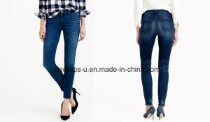 Fashion Indigo Ladies Slim Jeans pictures & photos