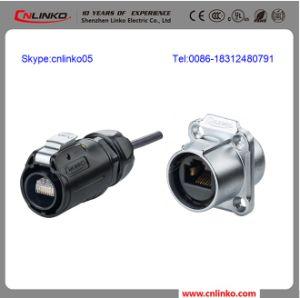 Metal Shell Waterproof Cat5e RJ45 Modular Socket pictures & photos