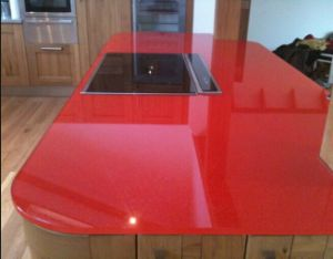 High Quality Kitchen Tempered Glass Worktops pictures & photos