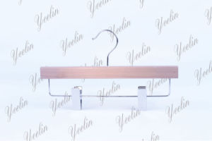 Adjustable Flat Wooden Hanger for Skirt (YLWD32812-NTLS1) pictures & photos