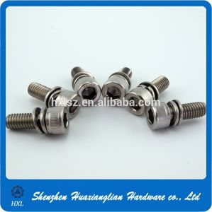 Steel Plated Zinc Hex Socket Captive Washer Cap Knurling Machine Screw pictures & photos