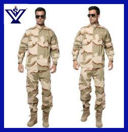 Cool Black Camouflage 100% Cotton Military Army Uniform (SYSG-242) pictures & photos