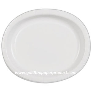 Disposable Tableware Theme Party Oval Paper Plates pictures & photos