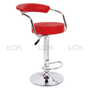 Italian Leather Adjustable Bar Stool