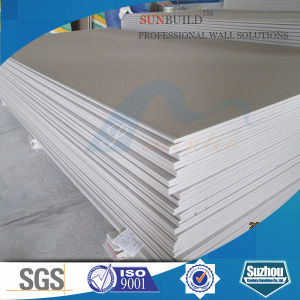 Paper Faced Plaster Regular Moisture Resistant Fireproof Gypsum Board pictures & photos