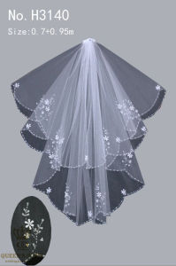 The New Hand-Beaded Bride Wedding Dress Veil