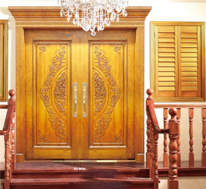 Luxury Golden Double Door with Carving pictures & photos