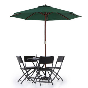 Wooden 2.7m Patio Umbrella Cafe Beach Canopy 8 Ribs 38mm Pole pictures & photos