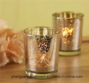 Hot Sell Tea Light Candlestick Glass Candle Holders for Festival Gift pictures & photos
