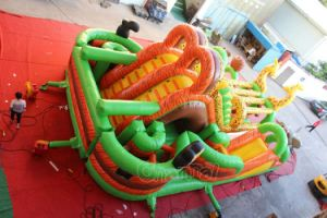 Dual Lane Safari Inflatable Obstacle Course for Sale Chob543 pictures & photos