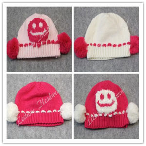 (LKN14022) Winter Fashion Promotional Earflaps Knitted Beanie Hats pictures & photos