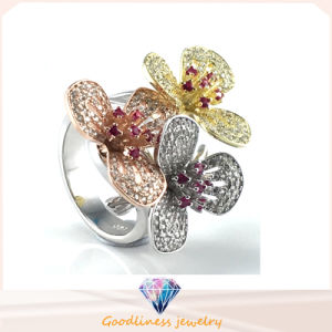 Elegant Flower Ring for Lady Gift Fashion Jewelry Hot Sale Silver Jewelry Ring R10502 pictures & photos